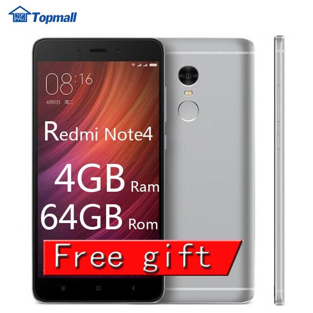 """Оригинальный телефон Xiaomi Redmi Note 4 Pro премьер 4 ГБ Оперативная память 64 ГБ Встроенная память MTK helio X20 Дека Core 5.5 """"FHD 4 г FDD LTE отпечатков пальцев ID"""
