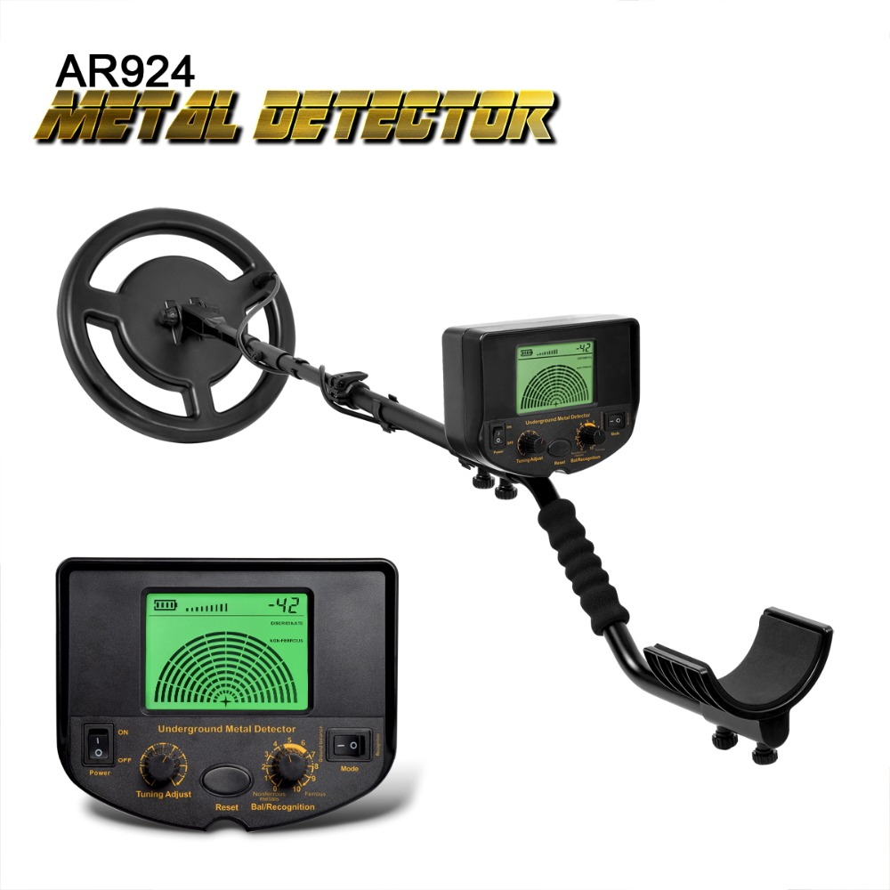 Underground Metal Detector Gold Digger Treasure Hunter Depth 1.5m Buzzer Professional AR924M LCD Display Wire Detector Metal