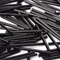Glass Bugle Beads,  Seed Beads,  Black,  about 3mm wide,  31~34mm long,  hole: 0.5mm; about 1400pcs/one pound