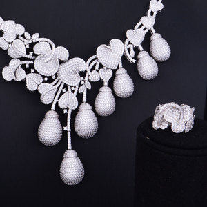Image 5 - GODKI роскошный цветочный бутон смешанные женские свадебные кубические циркониевые ожерелье серьги аксессуары для ювелирных изделий