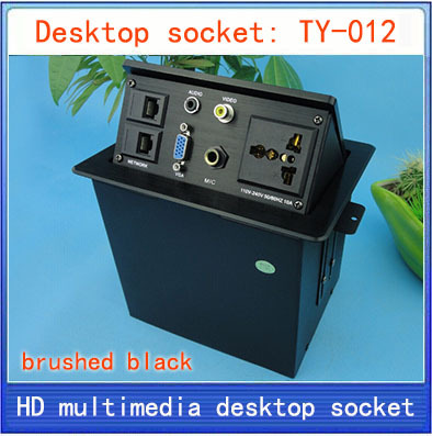 NEW Desktop socket / hidden multimedia information box outlet / network RJ45 video Audio VGA MIC interface desktop socket TY-012 new l0211 multimedia desktop socket multifunctional desktop socket outlet three plug socket network meeting