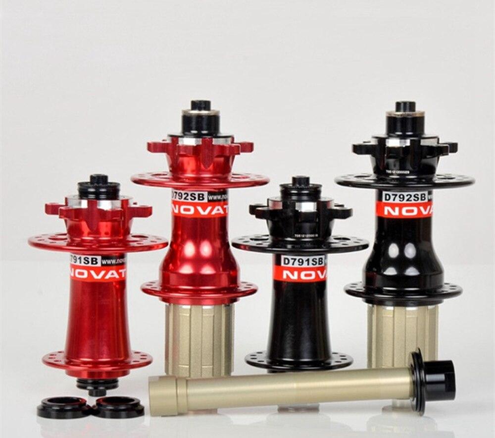 Moyeu de frein à disque vtt Super léger Novatec D791SB D792SB avant 100mm X12/15 arrière 142mm x12 ou QR mise à niveau pour NovatecD771DB/772SB
