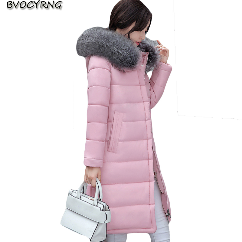 2017New Women Cotton Padded Jackets Winter Coat Warm Long Jackets Parka Hooded Overcoat Big Yards Female Slim Parkas Q899 winter jackets new women slim warm wadded jacket long sleeve down parkas hooded cotton padded big yards m 3xl long coat female
