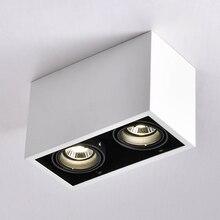 LED תקרת אורות כפול ספוט LED מנורות להחלפה GU10 5W led נורות הר תקרת אור מנורת קישוטי תאורה עבור בית