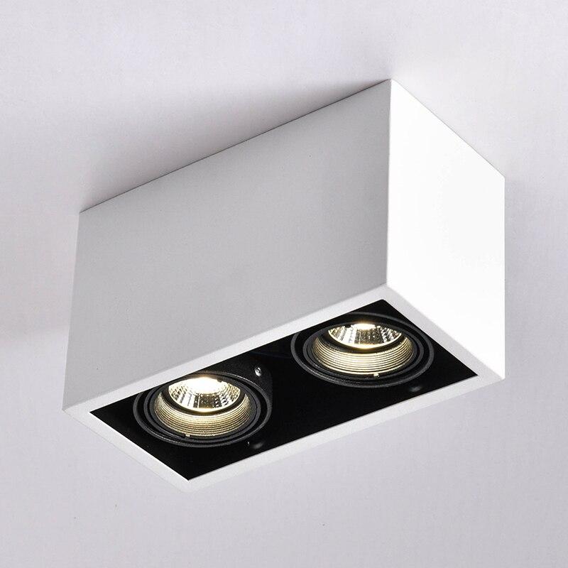 LED Plafonniers Double spot LED lampes Remplaçable GU10 5 w led ampoules lumière de montage au plafond lampe décorations Éclairage pour la maison