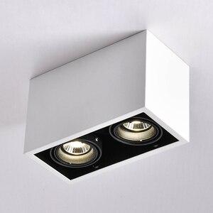 Image 1 - Led シーリングライトダブルスポット led ランプ交換可能な GU10 5 ワット led 電球マウント天井光ランプの装飾照明ホーム