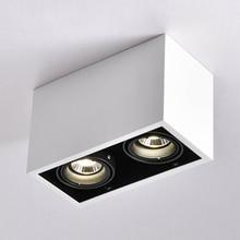 Plafonnier Double spot LED remplaçable, montage lampes LED, luminaire décoratif de plafond, luminaire dintérieur, GU10 5W, ampoule led