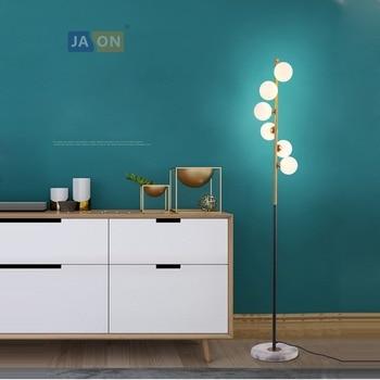 Led g4 Postmodern Demir Cam Mermer Altın Beyaz LED Lamba led ışık LED zemin lambası Zemin Işık Yemek Odası Yatak Odası Için