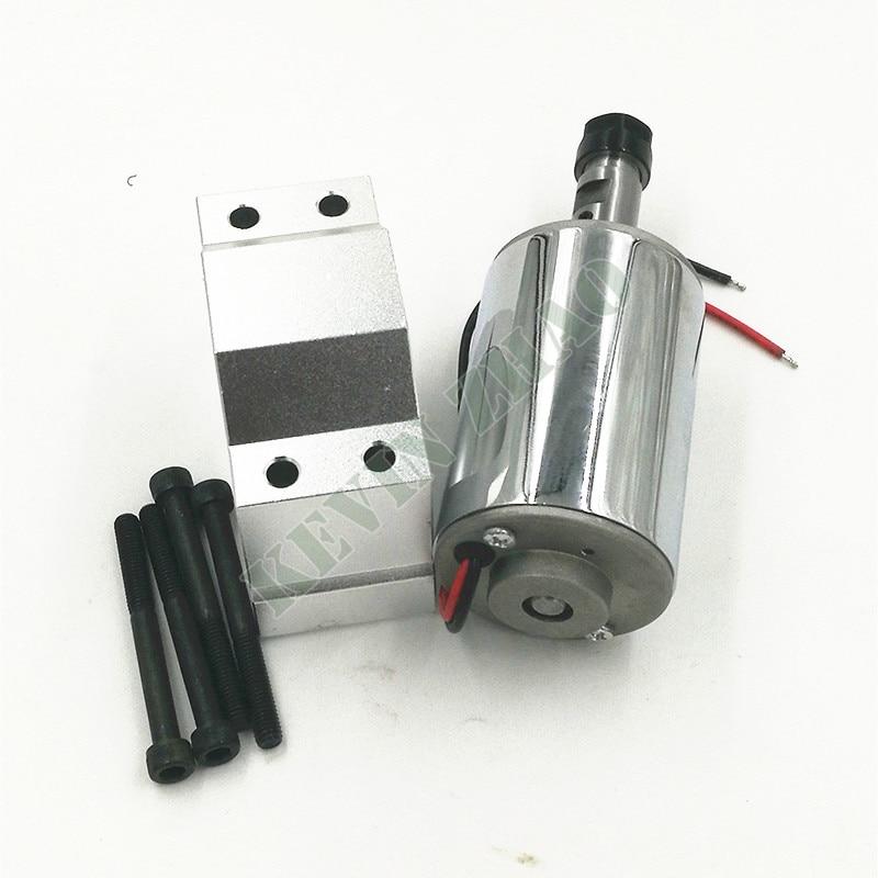 Шпиндель с ЧПУ 52 мм, 200 Вт, патрон ER11 DC 12-48 В 200 Вт, шпиндель с ЧПУ для гравировального станка с зажимом ER11 3,175 мм для гравировки печатных плат