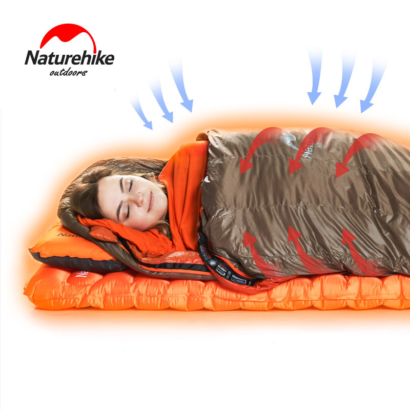 Naturehike Warming Sleeping Bag Liner Envelope Mummy Summer Outdoor Camping Portable Single Bed Sleeping Sheet Lock Temperature naturehike portable double sleeping bag liner bags 2colors 2200x1600mm ultra light spring summer camping envelope lazy bag 850g