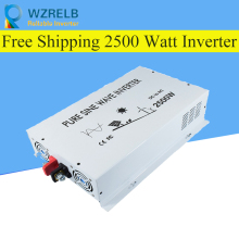 Peak Full Power 2500W Solar Inverter Pure Sine Wave Inverter Car Power Inverter 12V/24V to 120V/220V DC to AC Voltage Converter 3000w solar inverter 24v to 220v pure sine wave inverter car power auto battery voltage converter 12v 48v dc to 110 120v 220v ac