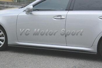 Автомобильные аксессуары из углеродного волокна CS итог Стиль сбоку юбка расширение пригодный для 2006-2012 IS250 IS350 боковых юбок >> YCMOTORSPORT