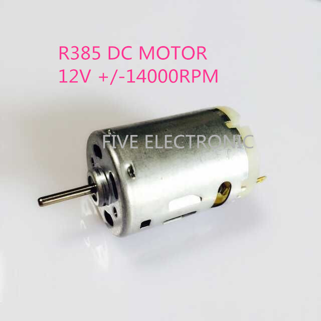 FREE SHIPPING! R385 Carbon-brush 12V <font><b>DC</b></font> <font><b>MOTOR</b></font>,Use for Hair Dryer/small vacuum cleaner/air boat model image