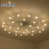 Европейский гостиная хрустальные люстры лампа роскошный романтический светодио дный светодиодный чип освещение контракт сладкий спальня