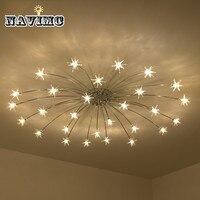European Living Room Crystal Chandeliers Lamp Luxury Romantic LED Chip Lighting Contracted Sweet Bedroom Star Indoor Chandelier