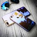 FLOVEME градиент цвета для айфона Чехол 7 прозрачный раковина Капа тонкая Жесткая пластиковая защитная задняя крышка для айфона 7 6 6S плюс