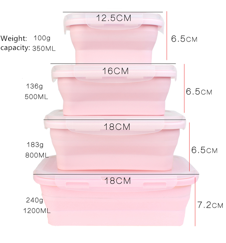 4 pcs Easy Container