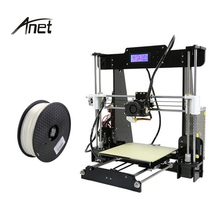 Hot Sell Anet A8 3d Printer Kits Large Printing Size 220*220*240MM Support Normal & Auto Leveling DIY 3d Printer Metal With PLA