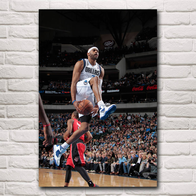 Vince Carter Basketball Stars Art Silk Fabric Poster Print Wall Home Decor Boy Gift 12x18 16X24 20x30 24x36 Inches Free Shipping