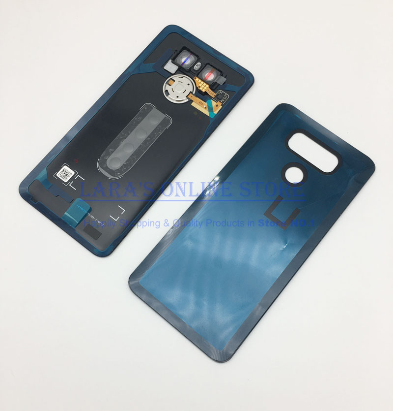 JEDX Back Housing For <font><b>LG</b></font> <font><b>G6</b></font> Back Cover Case Battery H870 H871 <font><b>H873</b></font> LS993 Rear Door with Fingerprint Sensor +Camera Lens Flash image