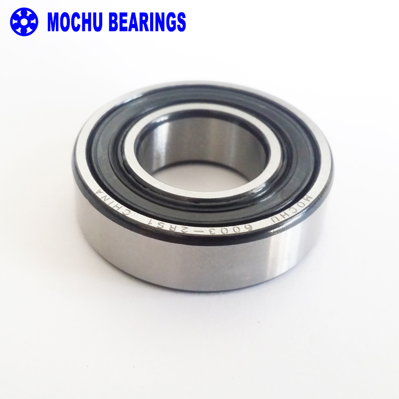 Qty.2 6003-2RS two side rubber seals bearing 6003-rs ball bearings 6003 rs