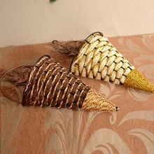 New Handmade Sector Wall Hanging Basket Storage Craft Fake Flower Vase Holder Cafe Office Home Decor Randomly Free Shipping