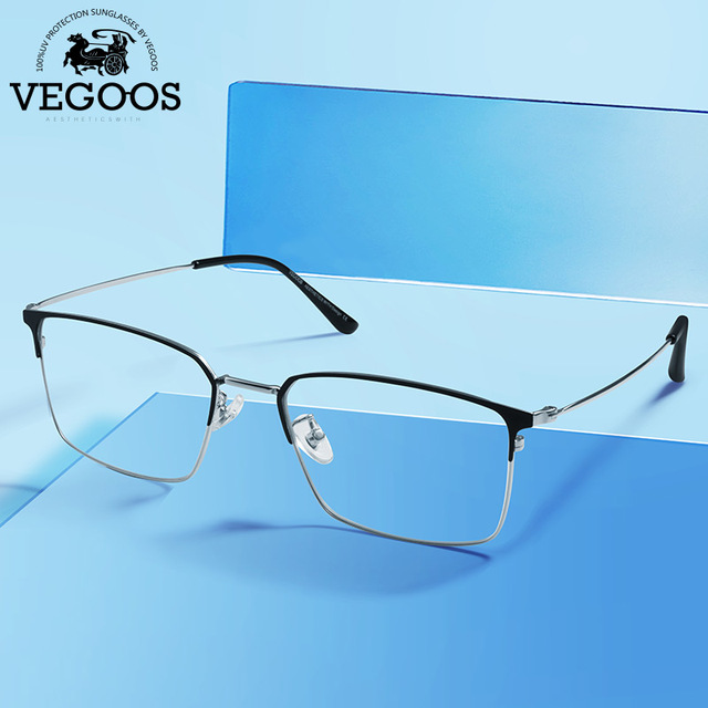 5e0a36e91e2d VEGOOS Retro Square Anti Blue Light Blocking Filter Glasses Unisex Reduce Eye  Strain Glare Reading Computer