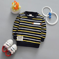2017 Spring Baby Boys T-shirt New Striped Shirt Boy Long Sleeve Tees O Neck Autumn Kids Fashion Sweatshirt 0-3 Years Old Kids