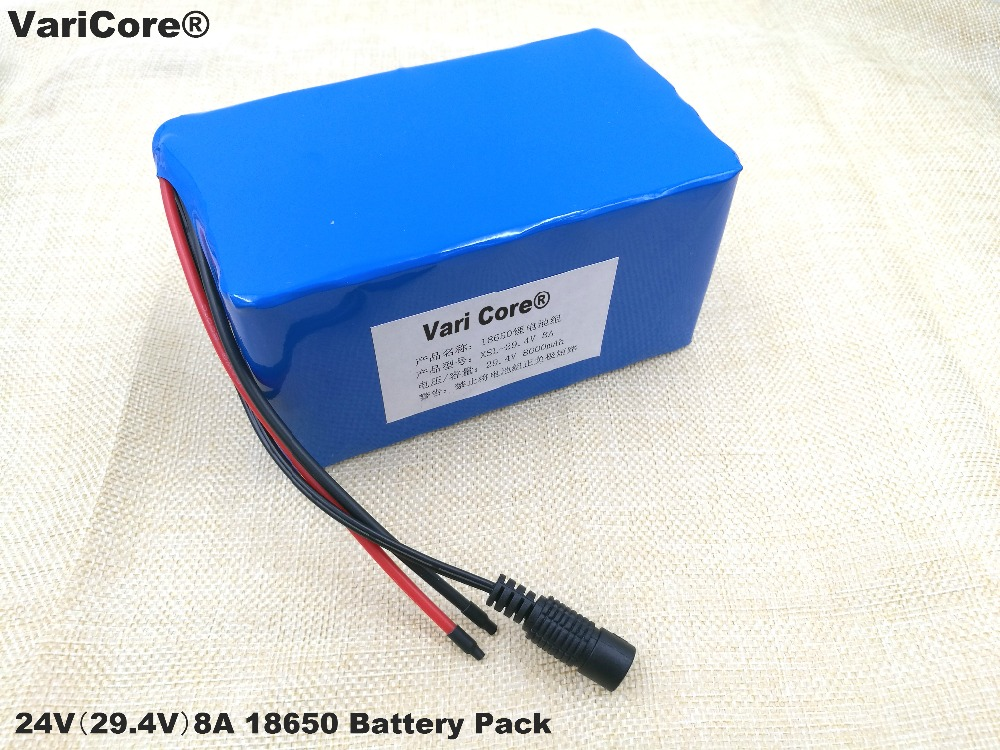 24V 8Ah 7S4P 18650 Battery li-ion battery 29.4v 8000mAh electric bicycle moped /electric/lithium ion battery pack 24v 7s4p 8000mah 8ah 18650 lithium battery for a small motor of the led lamps use a backup power electric bicycle batteries