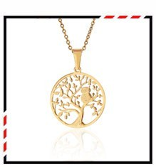 Hot Tree of Life Crystal Round Small Pendant Necklace Gold Silver Colors Bijoux Collier Elegant Women Jewelry Gifts Dropshipping 10