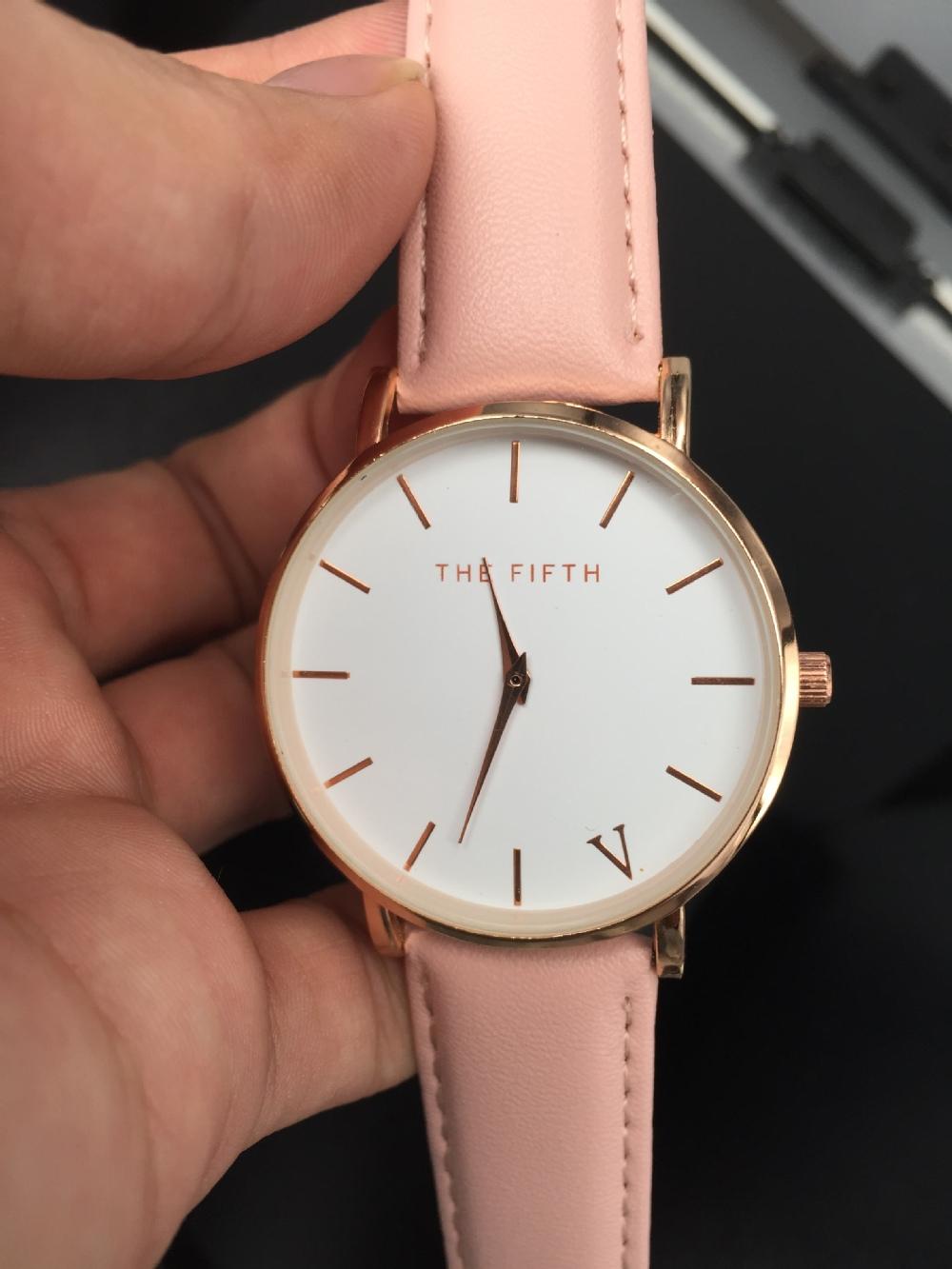 Пятая сетка бренда смотреть простоту классические наручные часы мода случайных кварцевые наручные часы высокое качество женщин смотреть женские часы
