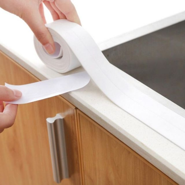 1 Roll Pvc Material Kitchen Bathroom Wall Sealing Tape Waterproof