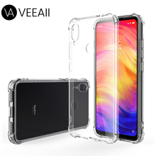 VEEAII Transparent Phone Case for Xiaomi redmi note 7 5 6 K20 Pro Silicone Back Protector