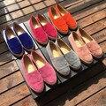 Мода женщины замши скольжения на бездельников EU35-41 размер удобные Эспадрильи случайные плоские туфли