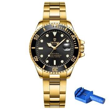 Для женщин часы TEVISE T801 автоматические часы для женщин и мужчин, вращающийся чехол Montre Femme Механические часы с Ремешок исправить инструмент