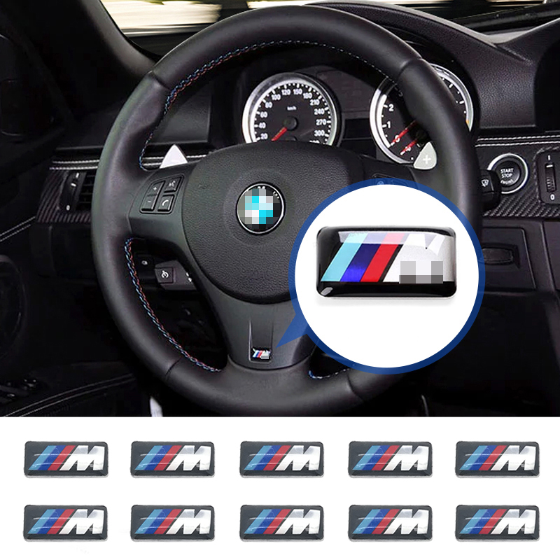 10X Tec Sport Wheel Badge 3D ///M Emblem Sticker Decals Logo For bmw M Series M1 M3 M5 x5 E46 E39 E90 E36 F30 F10 car-styling
