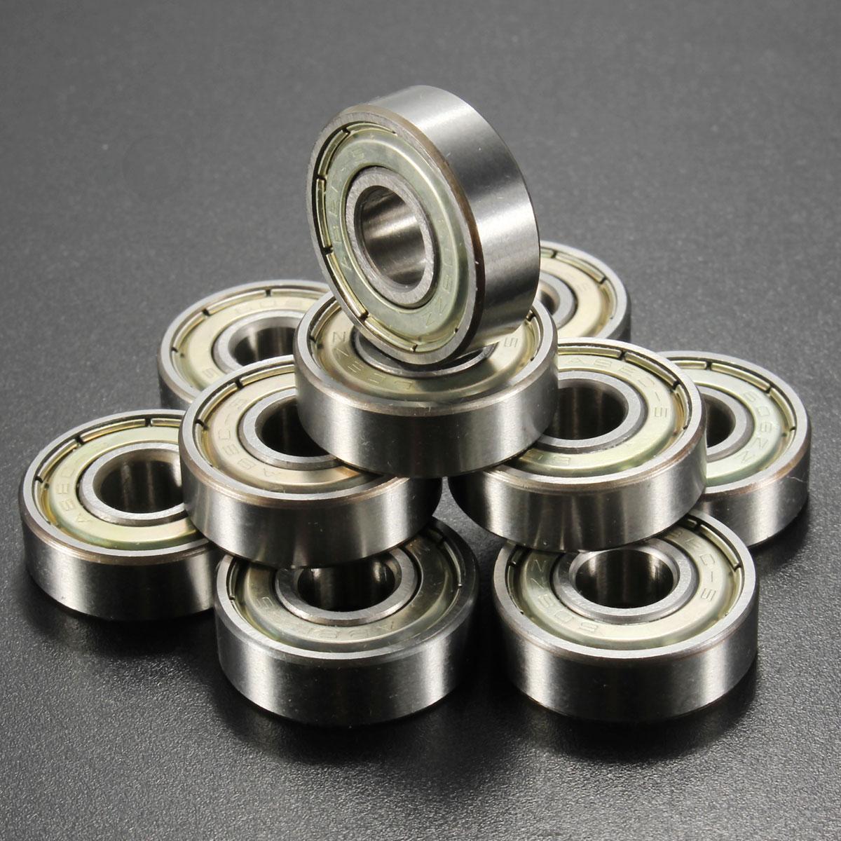 20pcs Double Shielded Miniature High carbon Steel Single Row 608ZZ Deep Groove Ball Bearing 8x22x7 mm