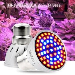 GU10 полный спектр E27 220 V E14 светодиодный завод расти свет лампы MR16 Fitolampy Фито лампы для комнатных растений Сад расти палатки Box B22