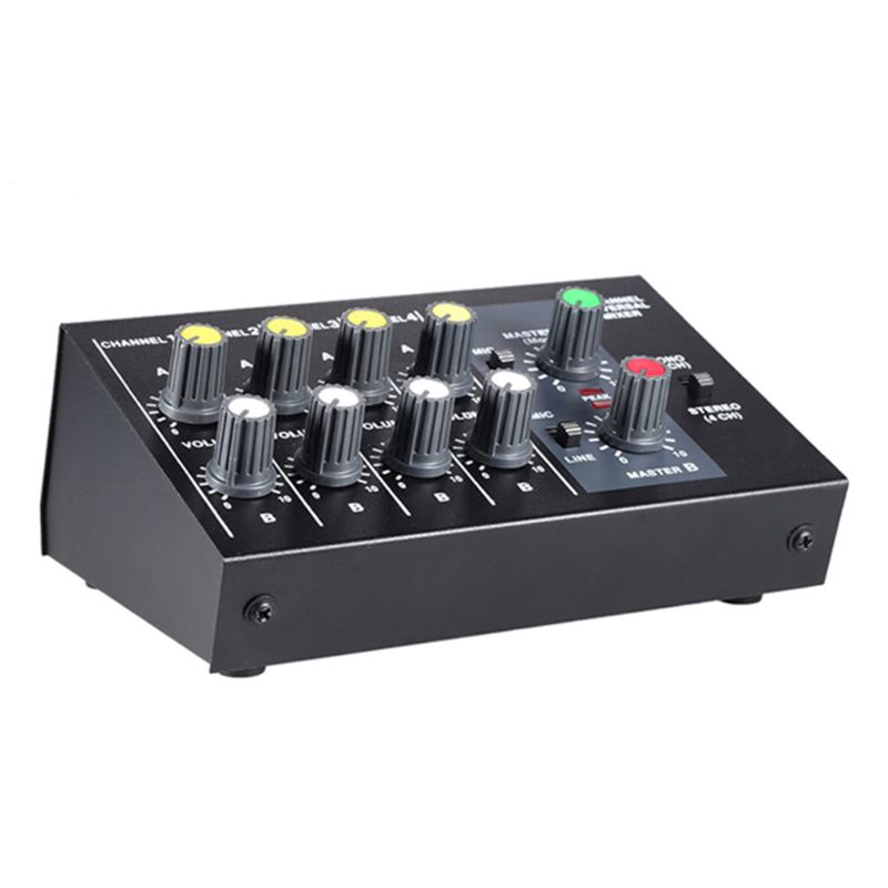 8 kanałowy dźwięk uniwersalny mikser cyfrowy regulacji mikrofon konsola miksująca Mono/Stereo Mono/Stereo ue/US wtyczka