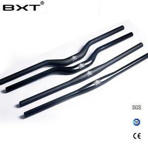 brand BXT carbon fiber bicycle handlebar matt / glossy mountain bike carbon handlebar 600mm - 720mm mtb bicycle parts(China)