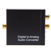 Digital Coaxial Toslink Optical To Analog L R RCA Audio Converter Adapter 3 5mm Jack Stereo