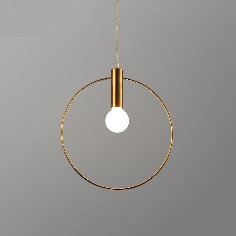 цены Minimalist modern iron ring art pendant lamps restaurants bedrooms bars creative personality pendant lights ZA620 ZL215 YM
