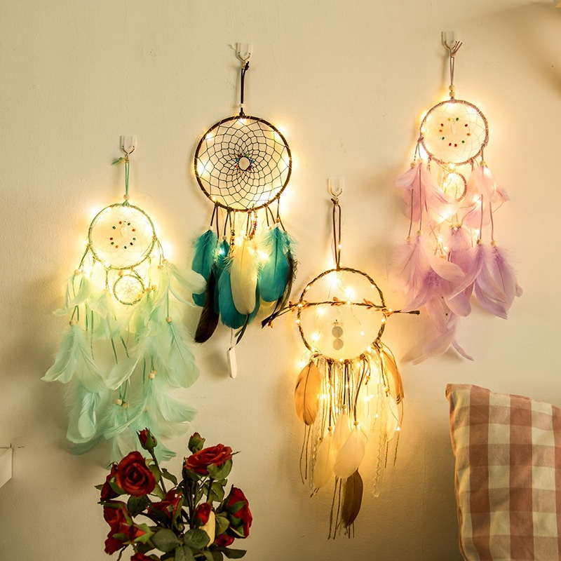 Us 6 31 Off Indian Dream Catcher Led Night Light Battery Color Garland Fairy Lights Wedding Festival Decoration Home Lighting New In