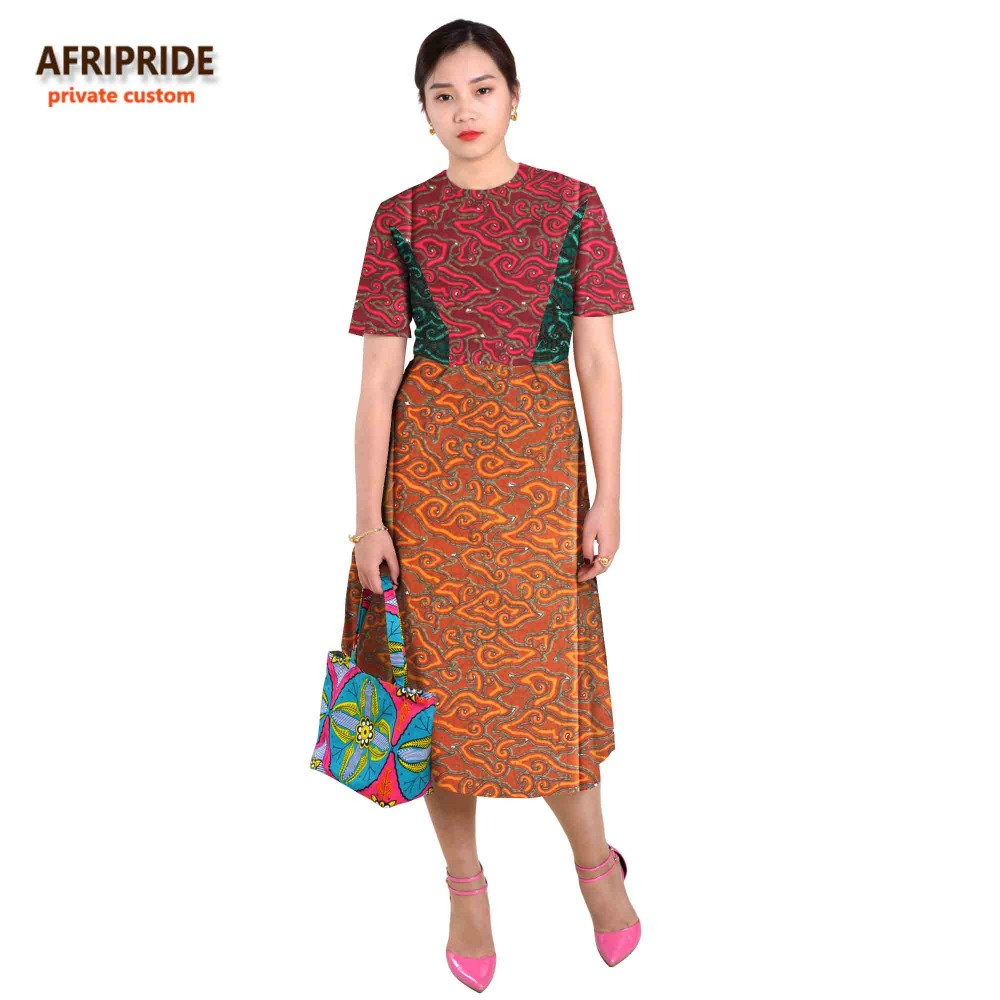 b7140bbbe4132 African dresses for women splicing skirt sexy styles african clothes fashion  cotton print wax private custom plus sizeA622513
