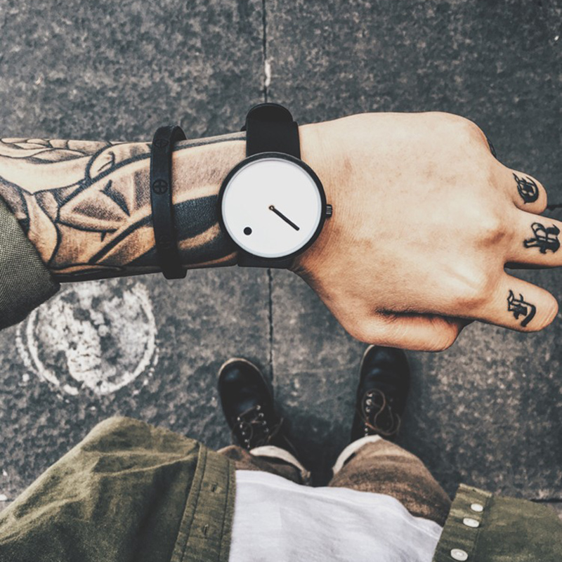 GEEKTHINK Top Brand Creative Quartz Watch Men Luxury Casual Black Japan Quartz-watch Simple Designer Fashion Clock Male