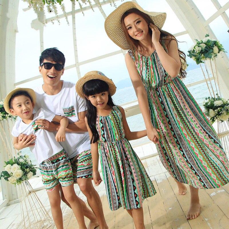 2017 Summer Family Set Couple Clothes Men Boy Clothing Set ...