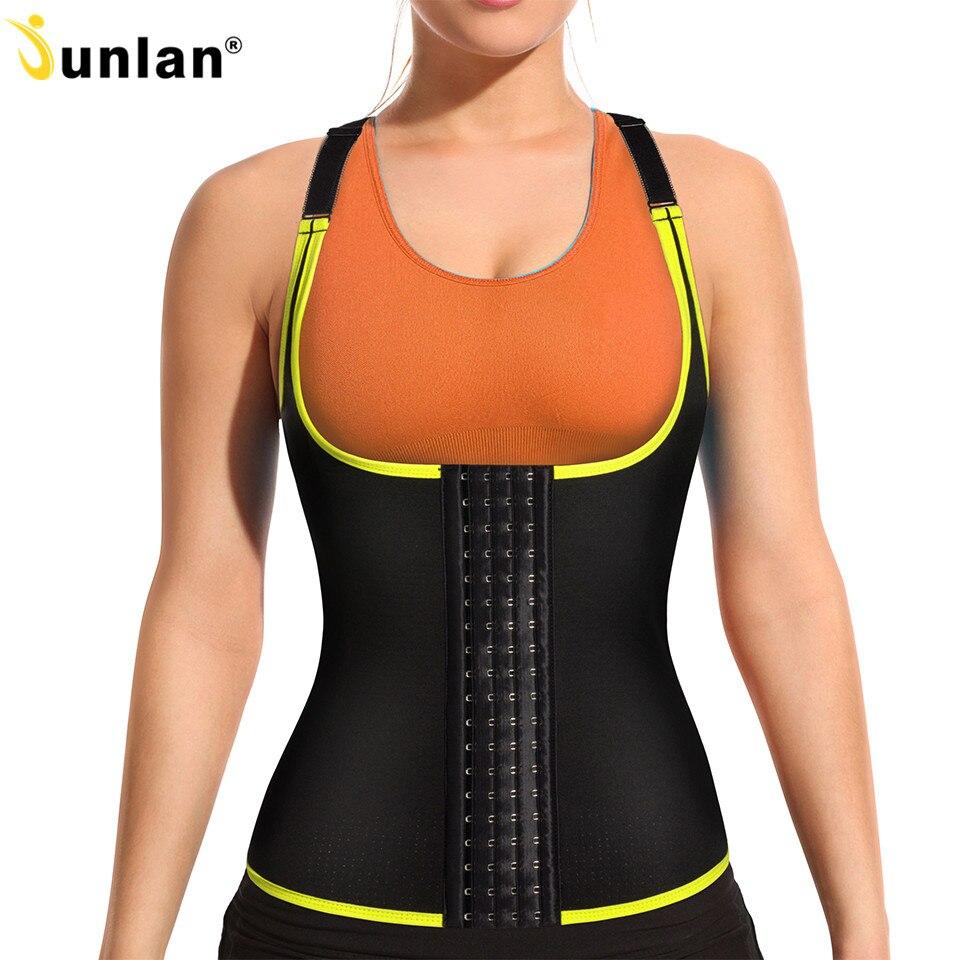 1417d3eeb58 Junlan Women Body Shaper Neoprene Slimming Vest Sauna Shapewear Tummy  Control Waist Trainer for Weight Loss