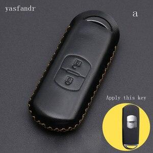 Image 3 - 2 düğmeler r anahtar kapağı kılıfı çanta cüzdan anahtarlık araba aksesuar için Mazda 2 / 3/ 5/ 6 CX 3 CX 4 CX 5 CX 7 CX 9 Atenza Axela MX5
