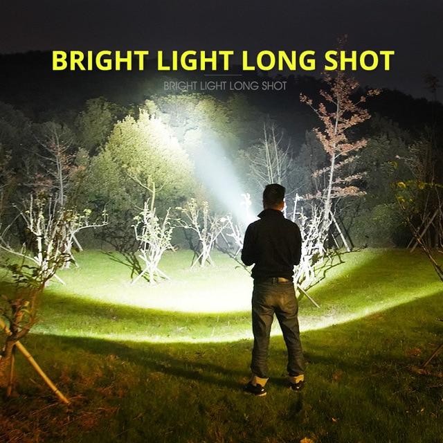 Super Powerful LED Flashlight L2 XHP50 Tactical Torch USB Rechargeable Linterna Waterproof Lamp Ultra Bright Lantern Camping 5