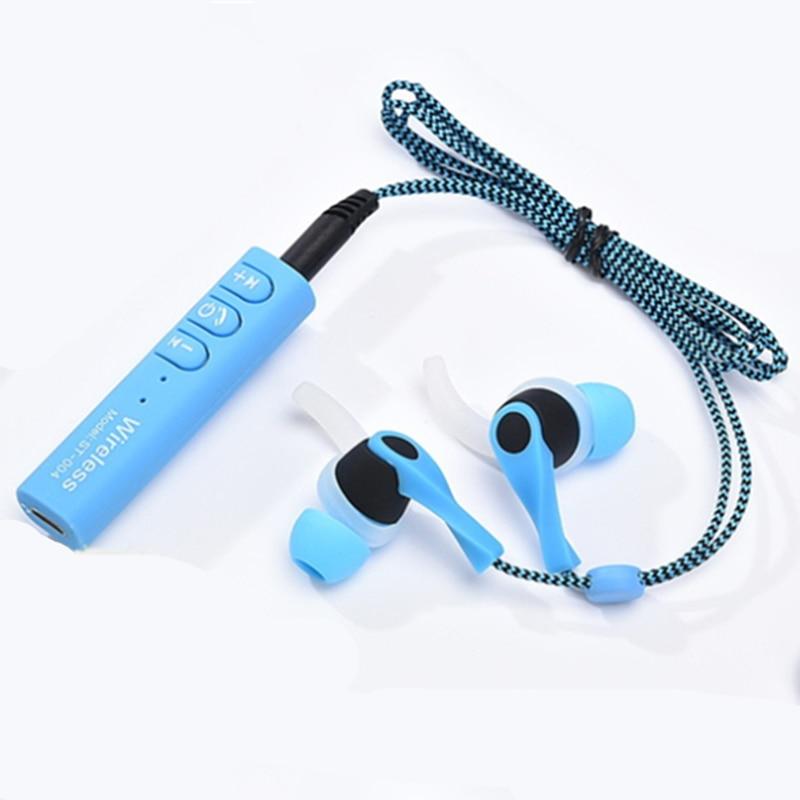 Trumsoon Sport Stereo Wireless Bluetooth Earphone Shoelace Wire Handsfree Earbuds for iphone samsung xiaomi Smartphones
